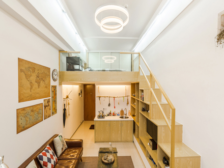 复式公�_随居home.2五缘湾loft挑高复式公寓
